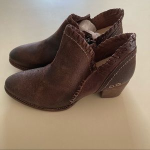 Bed Stu NEW Carla Chunky Heel Leather Booties 7